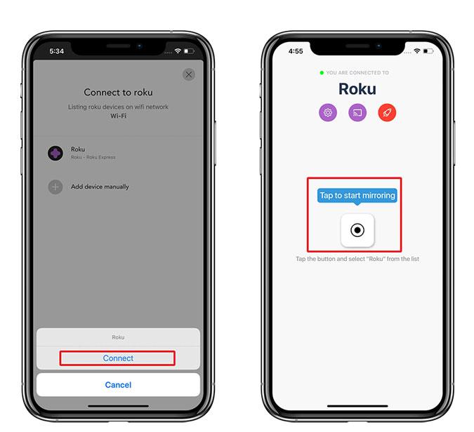 Kuinka peilata iPhone Rokuun Sovellus kopioimaan iPhone ... 5