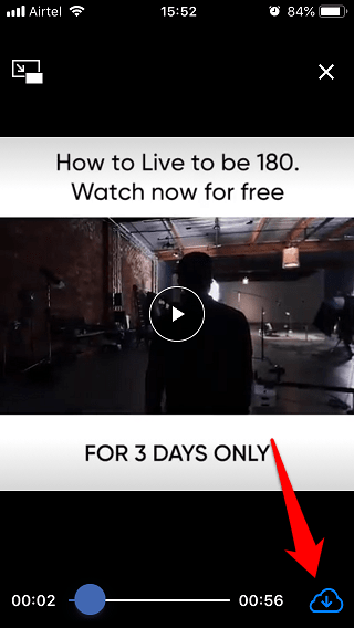 Tallentaa Facebook Videot Kameran rullaan iPhonessa 9