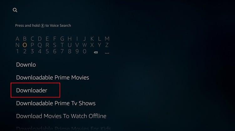 Deberá instalar el Downloader aplicación para instalar Nova TV APK en Firestick