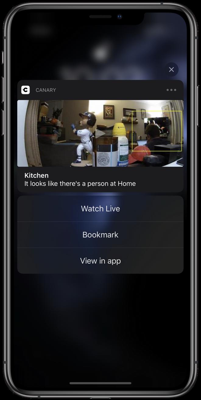 Se puede reproducir una notificación canaria correcta directamente en la pantalla de bloqueo.