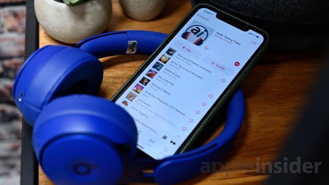 Uso de AppleInsider Audio Test Playlist con Beats Solo Pro