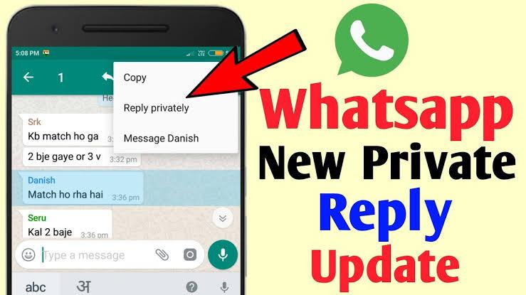 Cómo responder a mensajes de chat grupal de WhatsApp en privado