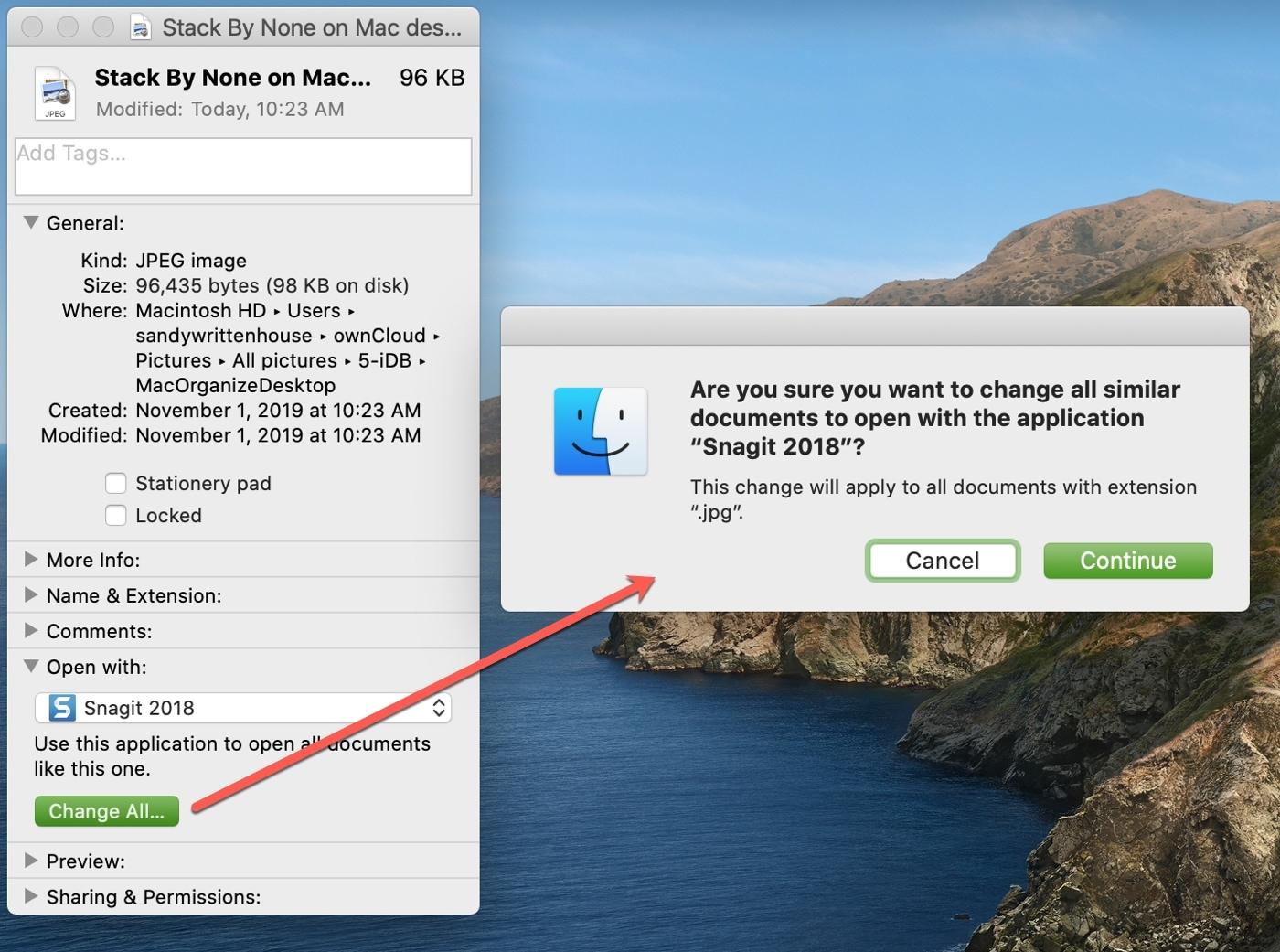 Cambiar todo en Mac