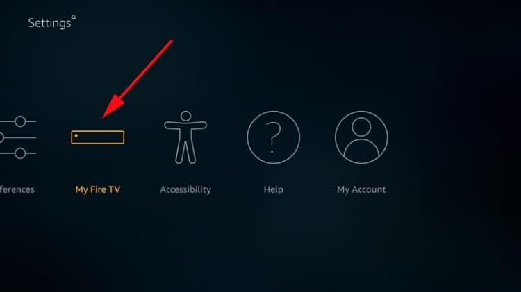 Comience seleccionando My Fire TV para instalar Nova TV APK en Firestick