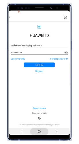 huawei-health-login-page - esfera de reloj personalizada en banda de honor 5