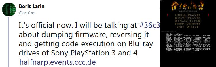 Noticias: Oct0xor hablará sobre la ejecución de código a través de la unidad de Blu-Ray en la PS3 y PS4 en 36C3 en diciembre y Diablo I portó a la 3DS junto con TwiLight Menu ++ 11.1.0 lanzamiento