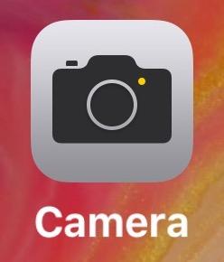 Aplicación de cámara abierta en iPhone