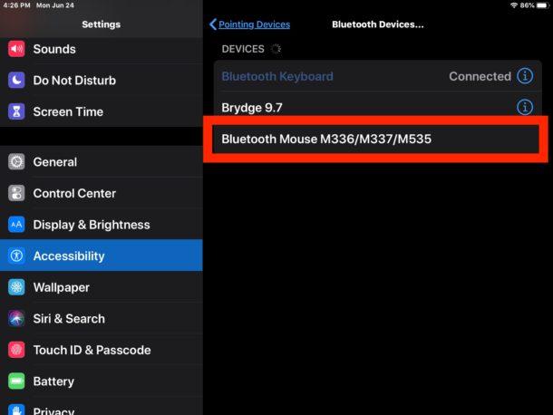 Cómo conectar el mouse Bluetooth al iPad