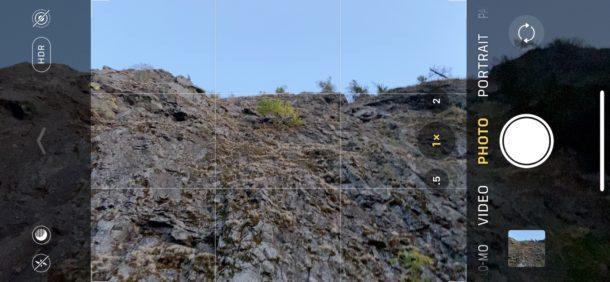 Uso de lente gran angular en la cámara del iPhone con ultra gran angular y zoom disponibles