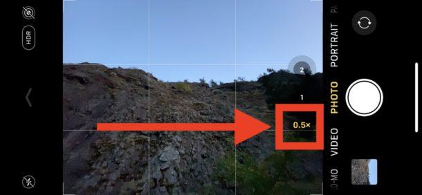 Cómo habilitar la lente de ángulo de cámara ultra gran angular en la cámara de iPhone