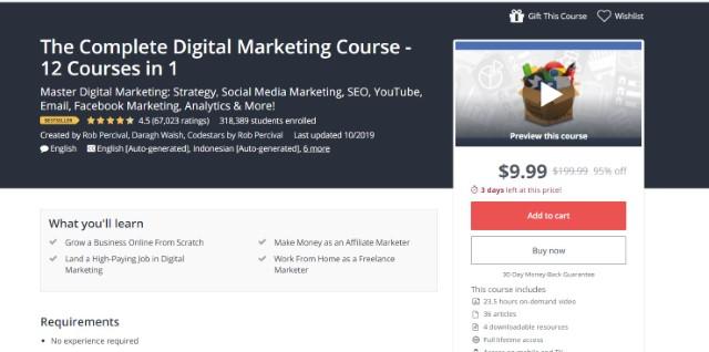 1. El curso completo de marketing digital - 12 Cursos en 1