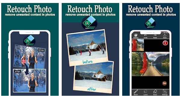 parasta poistaa esineitä Android / iPhone-valokuvasovelluksesta
