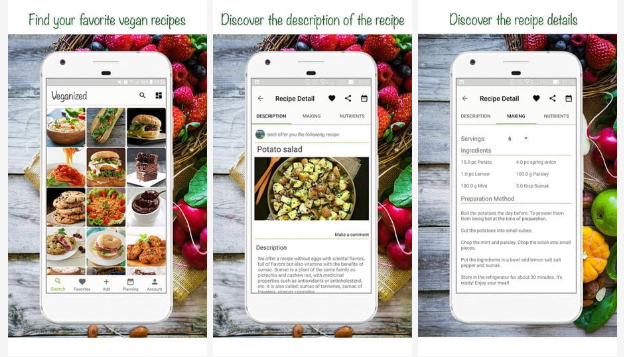 Veganized: la mejor aplicación de planificador de comidas