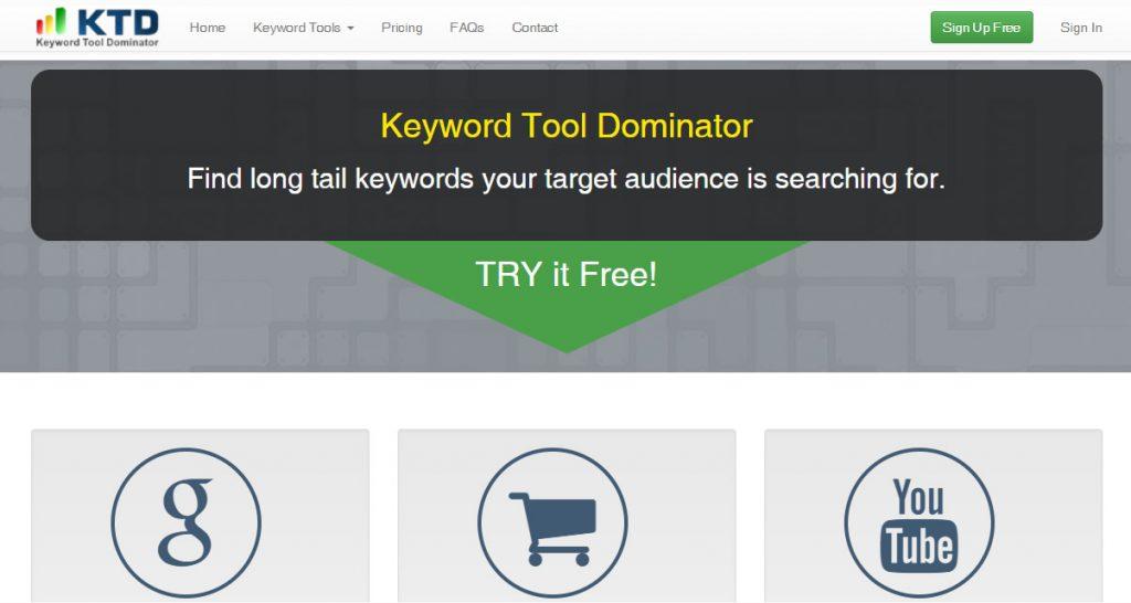 Herramienta de palabras clave Dominator para YouTube Investigación de palabras clave