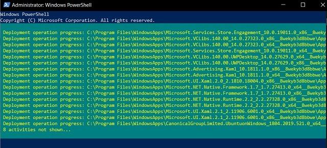 Reparar el error 0x80246019 usando los comandos de Powershell