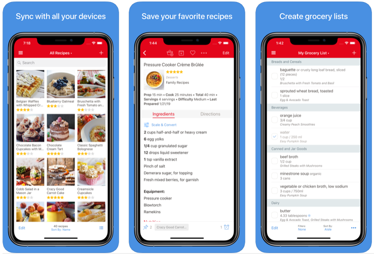 Administrador de recetas de pimentón 3 - La mejor aplicación de planificación de comidas