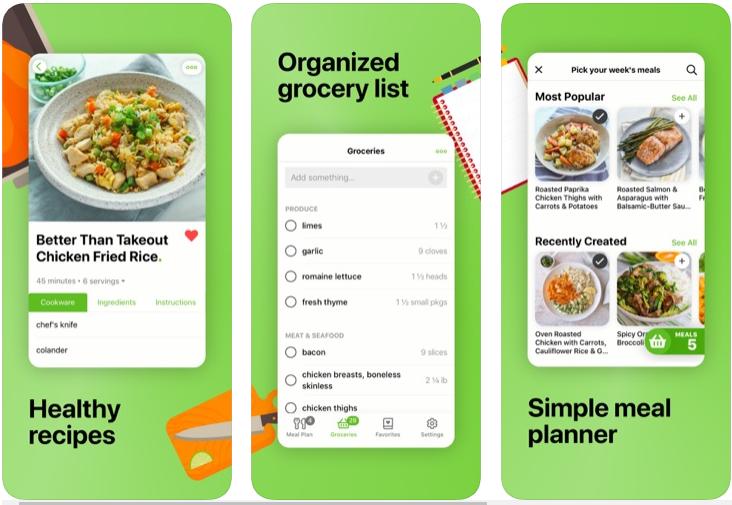 Mealime - Planificador de comidas, recetas y lista de compras