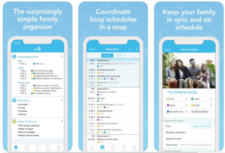 Cozi - App per la pianificazione dei pasti