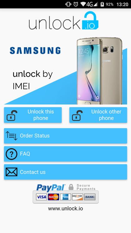 Desbloqueo de SIM-Samsung Galaxy
