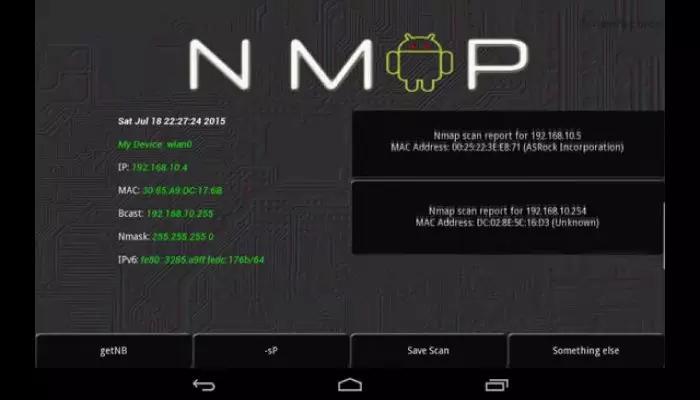 """Nmap - Aplicación de piratería WiFi para Android """"width ="""" 525 """"height ="""" 300"""