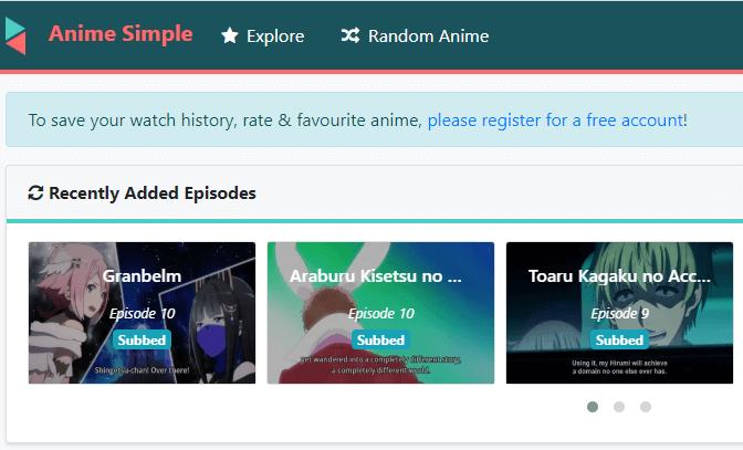 Anime Simple - Sitio de transmisión de películas de anime