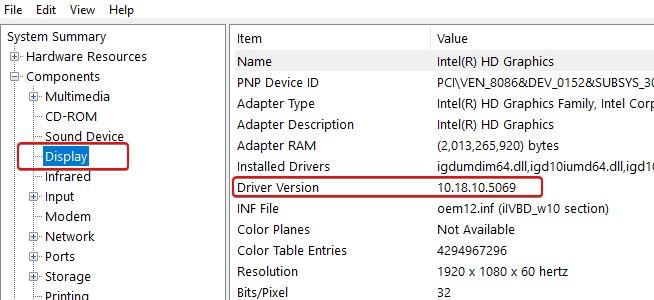"""Versión de la tarjeta gráfica Intel """"ancho ="""" 491 """"altura ="""" 225"""