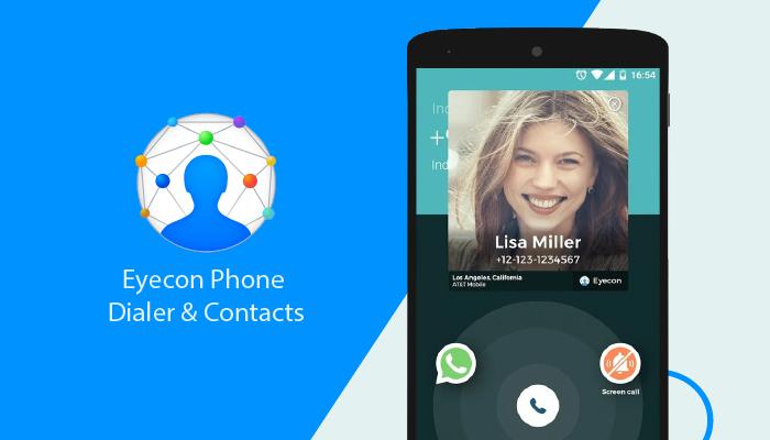 Eyecon Phone Dialer & Contacts - Las mejores aplicaciones de marcado