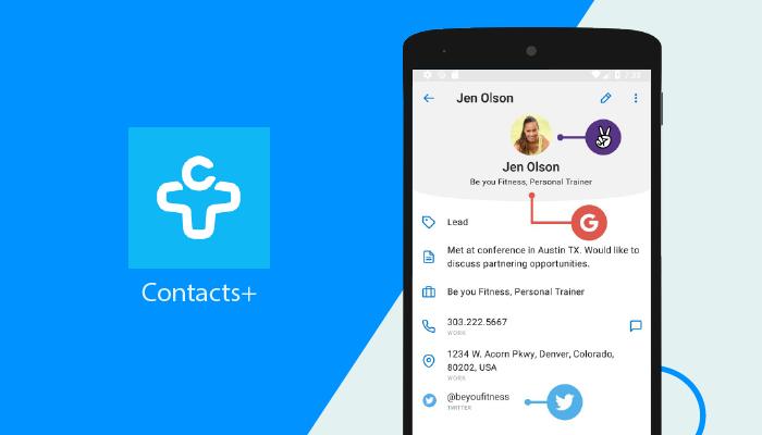 Contactos + - Las mejores aplicaciones de marcador