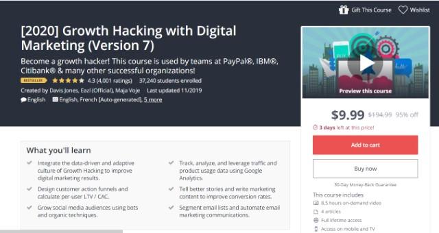 4. Hacking de crecimiento con marketing digital (edición 2020)