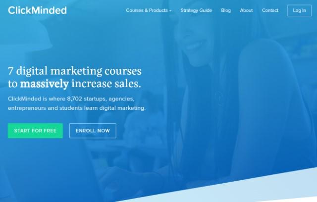 8. ClickMinded Cursos de marketing digital para profesionales
