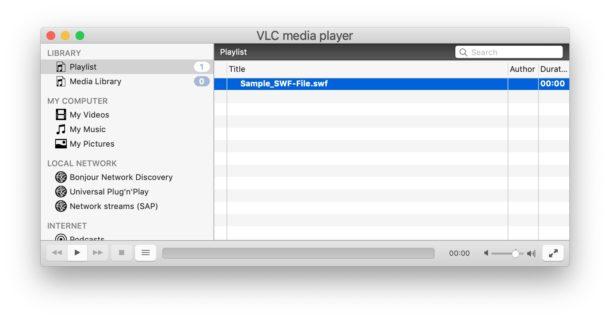 Reproducción de archivos SWF en Mac con VLC