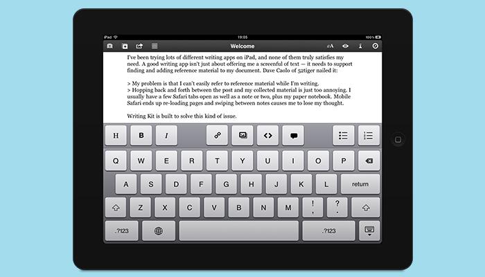 Kit de escritura: aplicación de escritura de ensayos