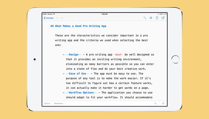 iA Writer - Aplicación de escritura de ensayos