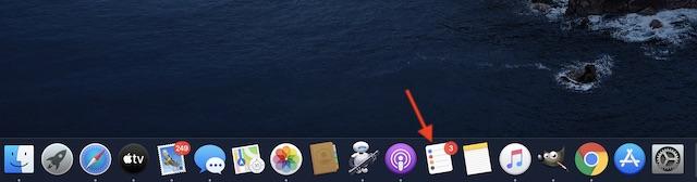 Käynnistä muistutukset -sovellus Macissa