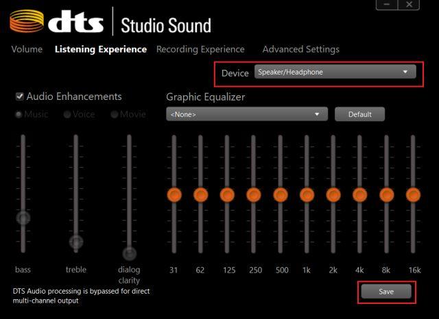 Resolver problemas de auriculares en Windows 10 con aplicación de sonido nativo