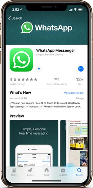 Ako povoliť dotykové ID a ID tváre v WhatsApp 2