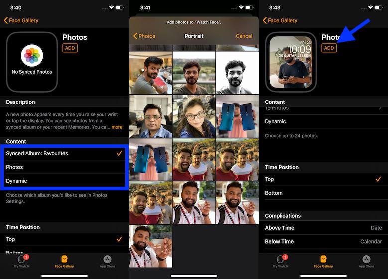 Establezca una imagen genial como cara de reloj usando Face Gallery en iPhone