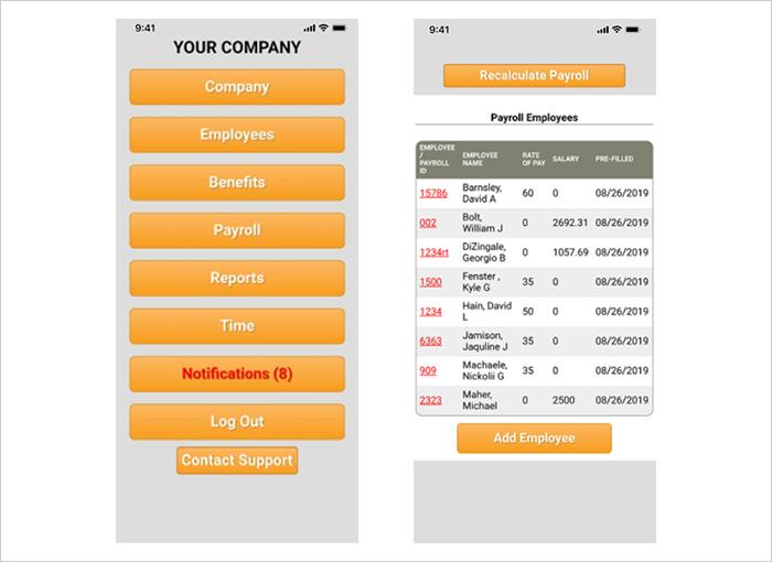 Mae llogi adnoddau dynol yn hawdd gyda'r app MobileHR 1