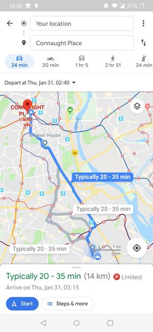 Los mapas de Google predicen el tráfico