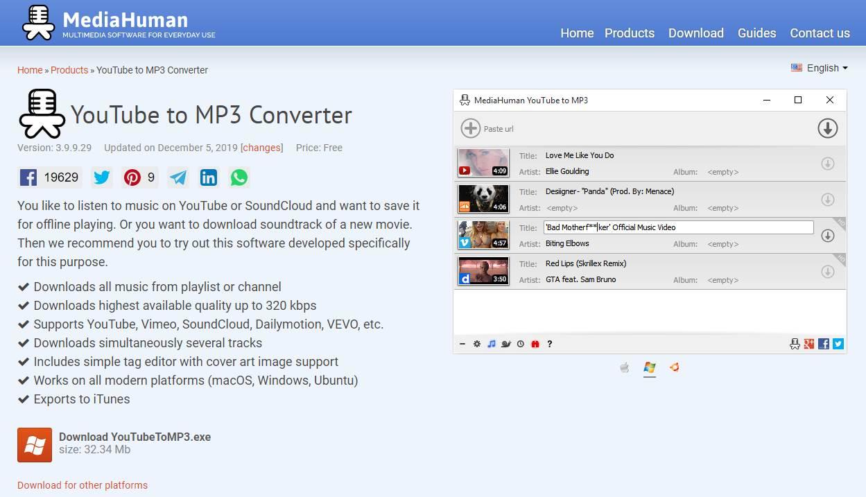 YouTube  chuyển đổi sang MP3