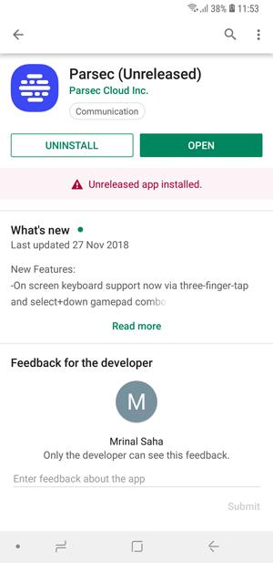 Cómo jugar juegos de PC en tu Android- parsec android