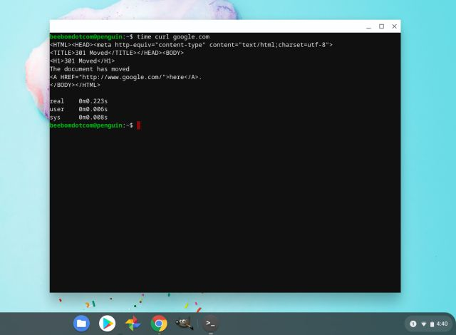 Podpora systému Linux na Chromebooku