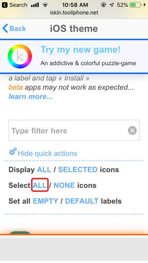 personalizar la pantalla de inicio en iPhone- seleccionar todo
