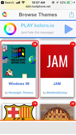 personalizar la pantalla de inicio en iPhone- navegación por temas