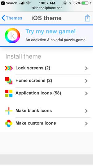 personalizar la pantalla de inicio en iPhone- componentes temáticos