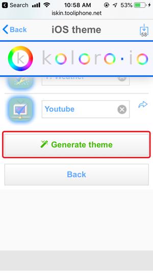 personalizar la pantalla de inicio en iPhone- ios tema generar