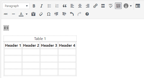 Ako vytvoriť tabuľku v WordPress bez doplnku 10