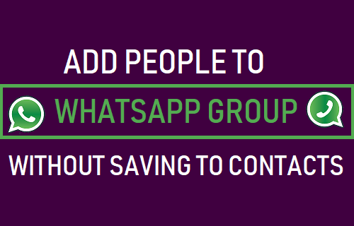 Agregue personas al grupo de WhatsApp sin guardar en contactos