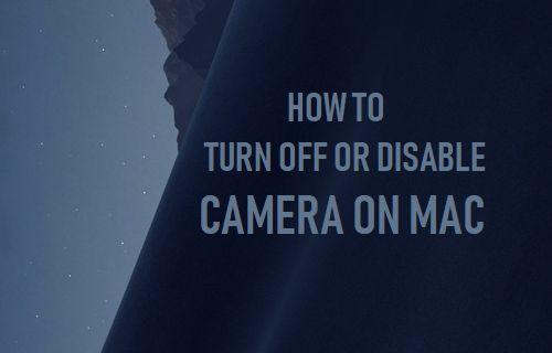 Apague o desactive la cámara en Mac
