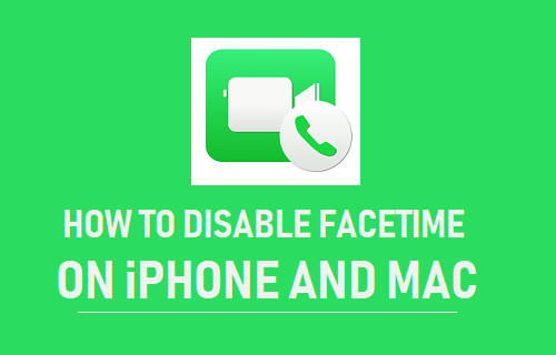 Desactiva FaceTime en iPhone y Mac